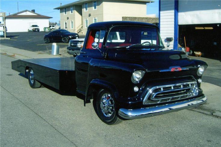 custom chevy pickup trucks | 1957 CHEVROLET CUSTOM RAMP TRUCK - Barrett-Jackson Auction Company ...