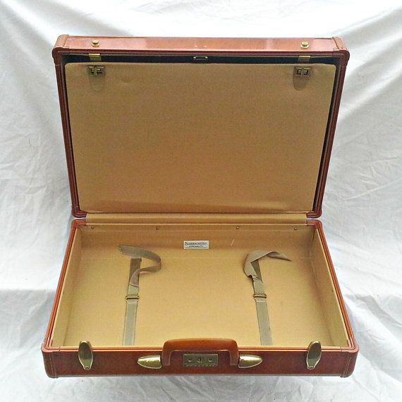 Vintage NEW Samsonite Men's Suitcase by VintageRelics802 on Etsy