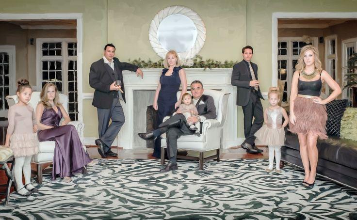 Kardashian Style family portrait, charlotte nc, painted family portrait