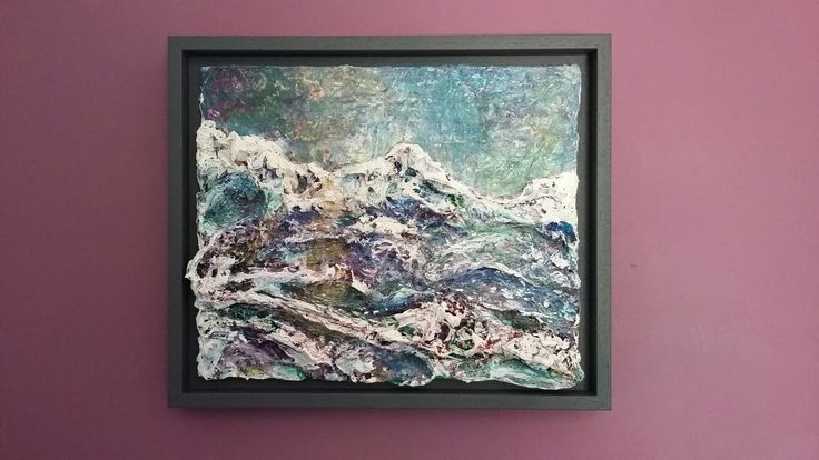 Waves. New work, framed and ready! Mixed media.