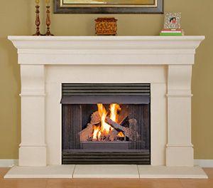 fireplace mantel - cast stone