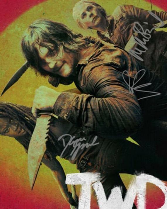 The Walking Dead Norman Reedus Melissa Mcbride Danai Gurira Tv Etsy In 2021 The Walking Dead Daryl Dixon Walking Dead Signed Photo