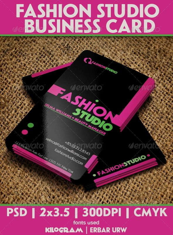 136 best business cards images on pinterest business card design fashion studio business card flashek Gallery