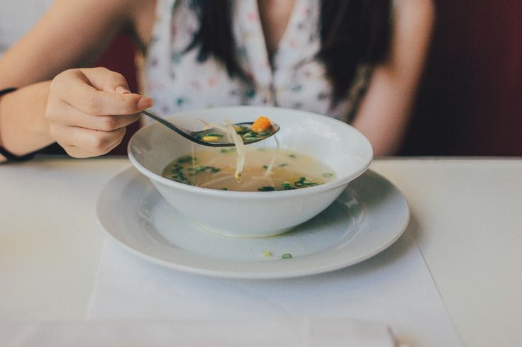 Tip: For perfect vegetable soup, start with diced carrots, onions, peppers and tomatoes sautéed in oil or butter before you add any liquid. This brings out the taste and caramelizes the sugars //Shaun Hergatt