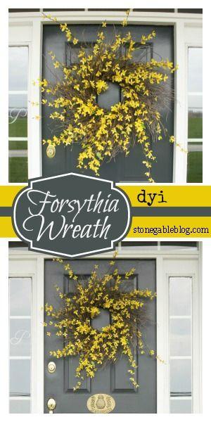 EASY TO MAKE FORSYTHIA WREATH Step by step tutorial