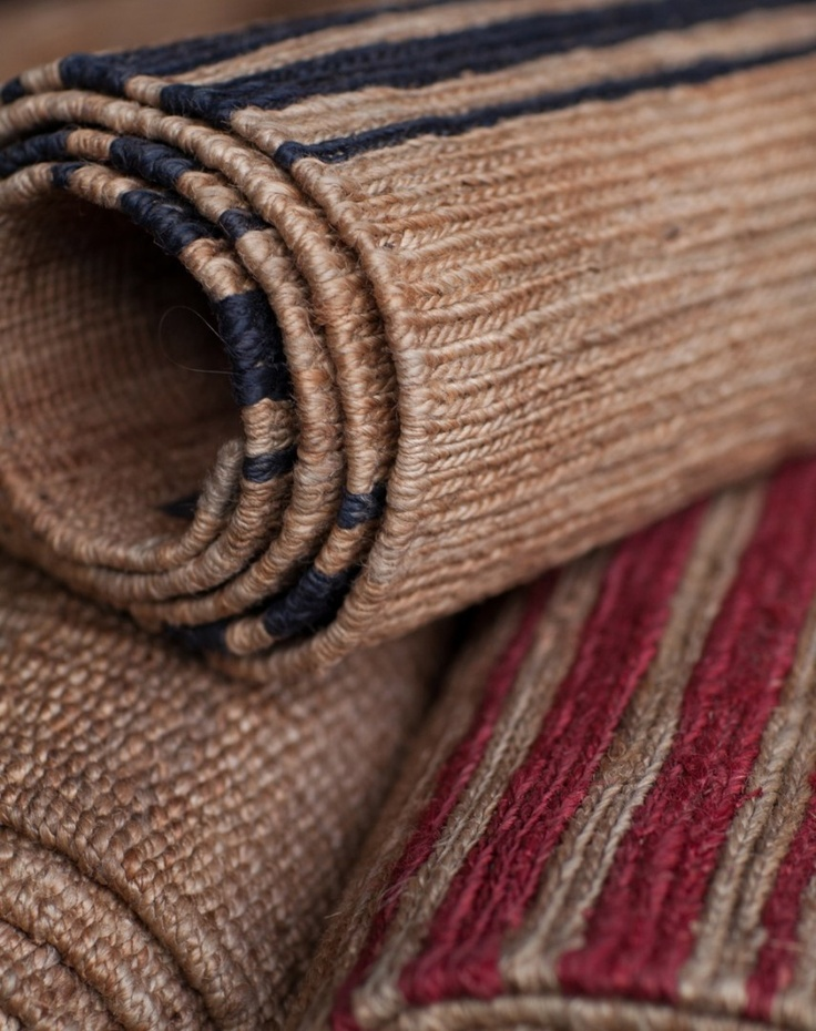 River Weave - Ticking Stripe | Armadillo & Co. Very Hamptons