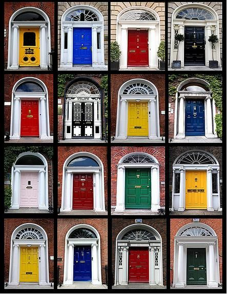 This is a black background version of a Doors of Dublin poster I made last year. These are a selection of doors of Georgian period houses around the ... & 34 best Doors of Dublin images on Pinterest | Entrance doors Front ...