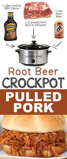 #7. Root Beer Crockpot Pulled Pork   12 Mind-Blowing Ways To Cook Meat In Your Crockpot