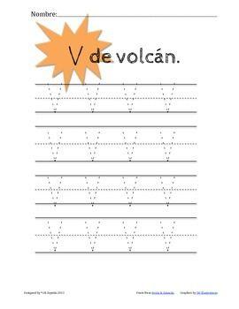 Para practicar la letra V. Incluye un experimento.