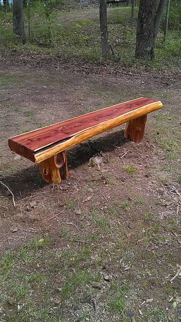 Cedar Bench Made From Old Cedar Log Bench In 2019