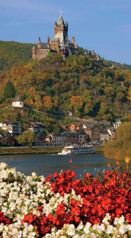 Lorch Village, Hesse, Rhine River, Germany.