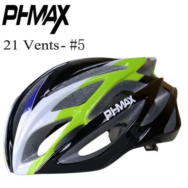 PHMAX Brand Cycling Helmet Road Mountain Cycle Helmet In-mold 21 Vents Bicycle Helmet Ultralight Bike Helmet Casco Ciclismo