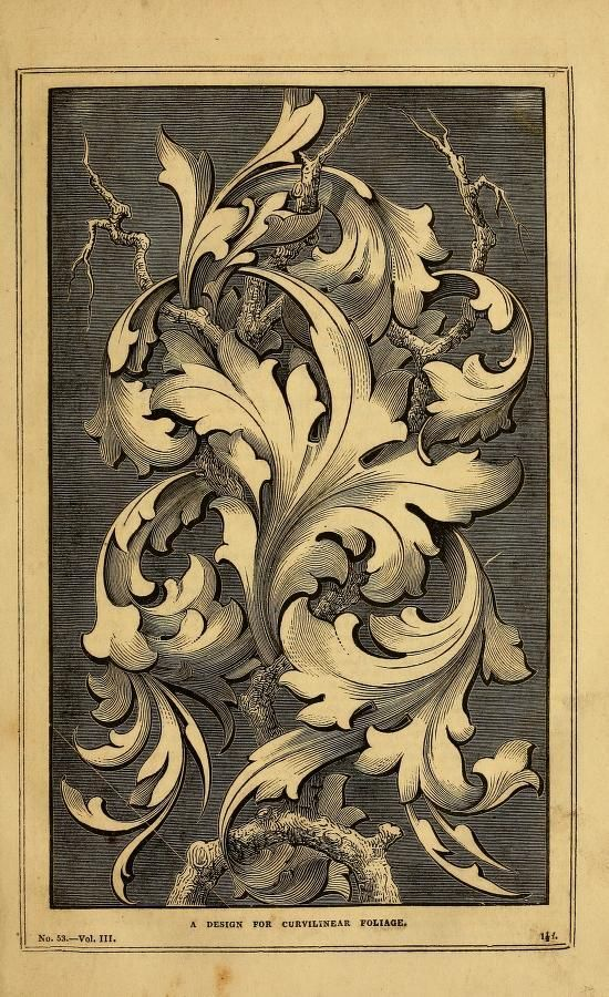 A design for curvilinear foliage. The Decorator's assistant. Vol. III. 1848