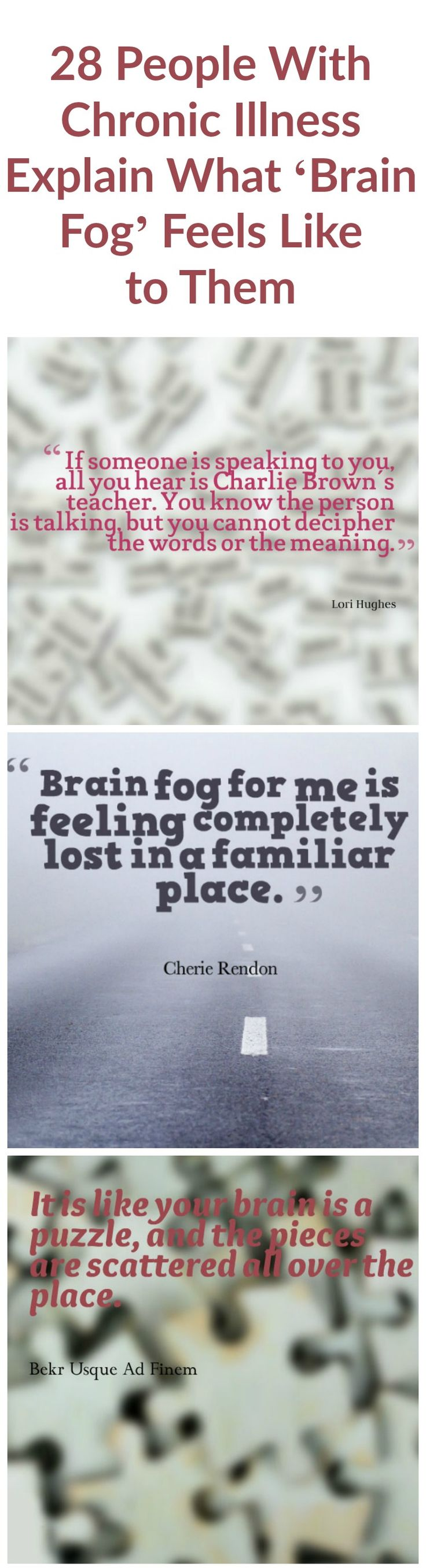 28 People With Chronic Illness Explain What 'Brain Fog' Feels Like to Them