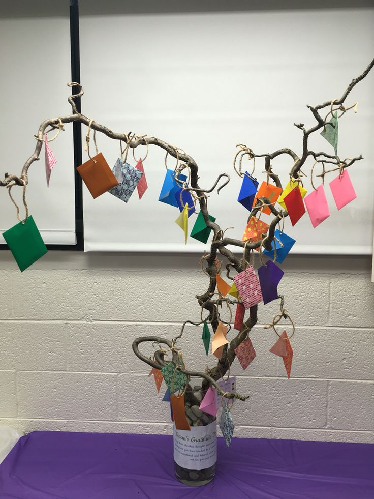 Farewell Tree.  We put special messages to our colleague at her farewell party for her to know how special she is to us.