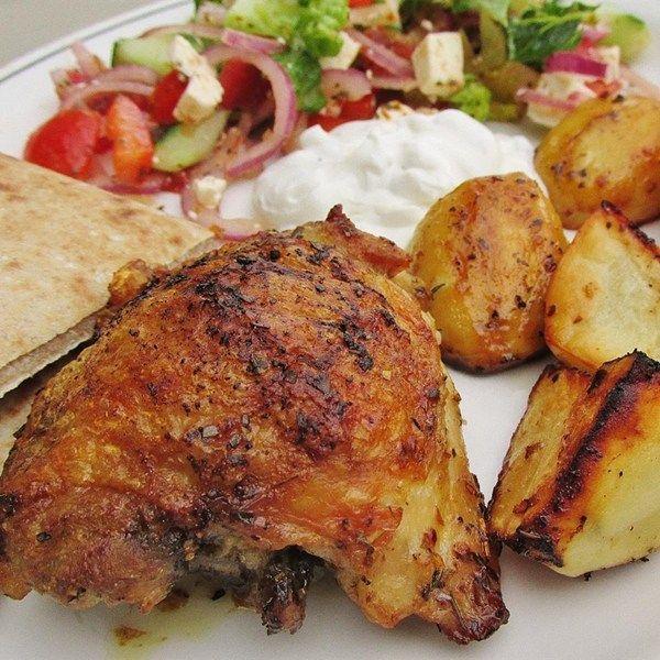 "Greek Lemon Chicken and Potato Bake I ""Fragrant, flavorful ..."