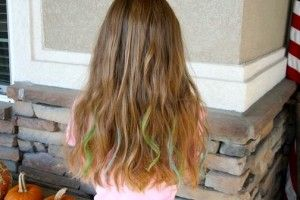 No Dye Chalk Hair Highlights - scroll down for instructions and video