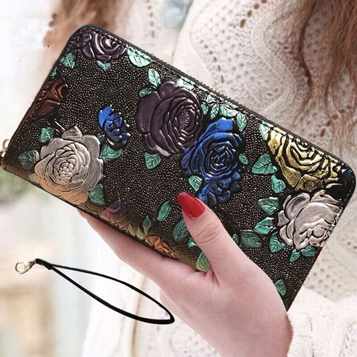 Photo of 2019 New Women Wallets long 3D butterfly Leather Genuine Luxury Brand Design  Fa…