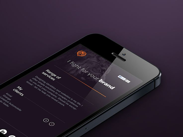 Personal website / mobile by Cris Labno