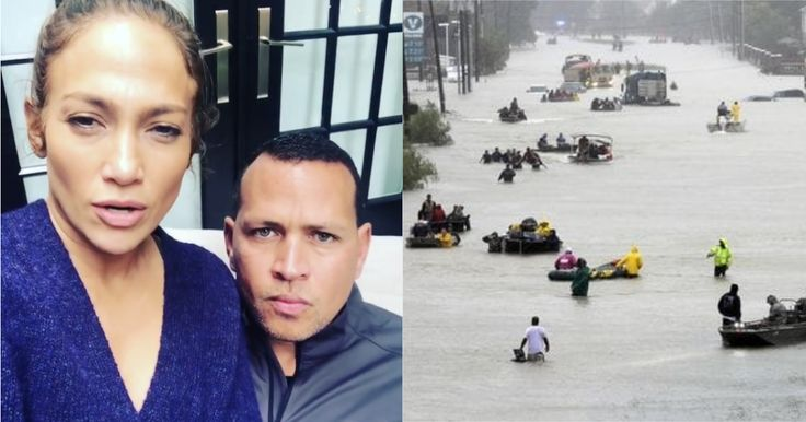 Jennifer López y Alex Rodríguez donarán 50 mil dólares para los damnificados del Huracán Harvey… #Farándula #AlexRodríguez #JenniferLópez
