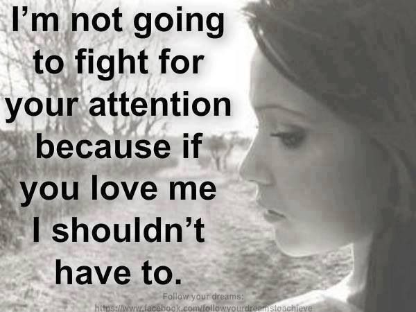 How do you fight for someone you love