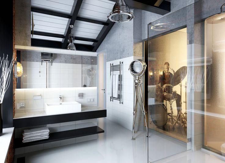 Industrial Interior Design Bathroom   Google Search