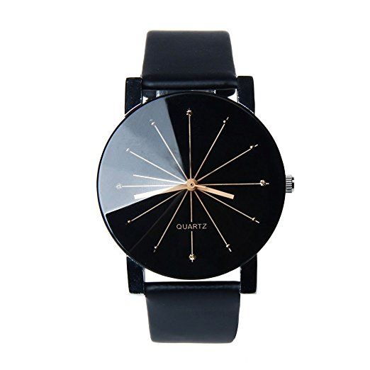 seriously only $$$2 crazyMapletop Men Wrist Watch Quartz Dial Clock PU Leather Watch Round Case