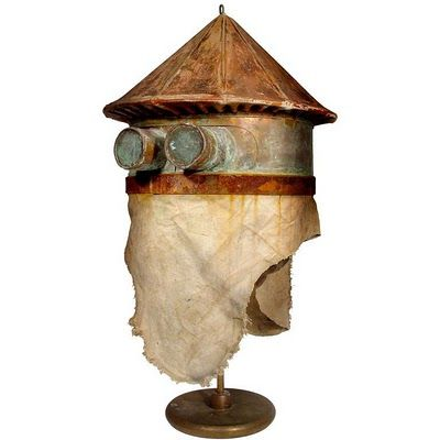 Early Home Made Beekeeper's Helmet