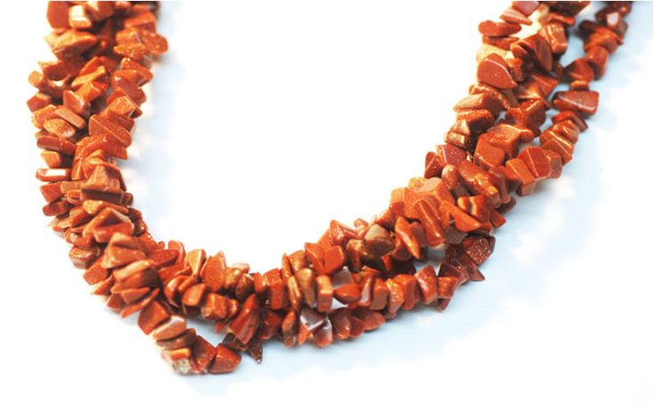"2 Strands Gold Stone Endless Shape Chips Beads, Jewelry Making Chips, 36"" Long #luctsa"