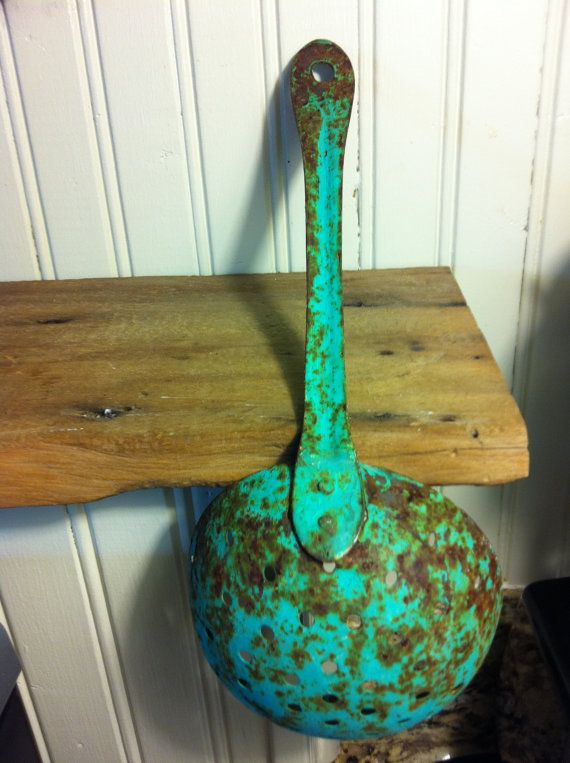 Kitchen Turquoise Blue Vintage Rustic by cabinintheheartland, $18.00