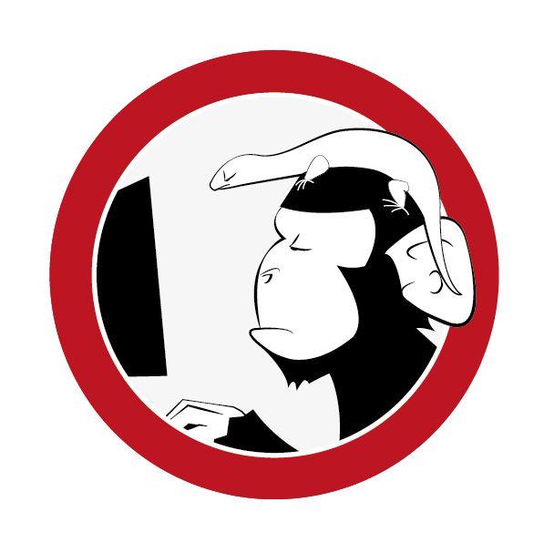 Logotipo para Autentia. Prohibido Monos y Lagartos.