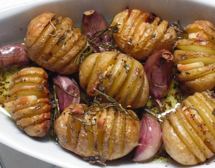 Cantinho Vegetariano: Batata Bolinha Assada com Alho e Ervas (vegana)