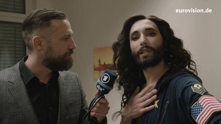 Conchita im Aftershow-Interview heute Nacht nachdem Levina auserkoren wurde, Deutschland beim Eurovision Song Contest zu vertreten. #theunstoppables #esc2017 #unsersong