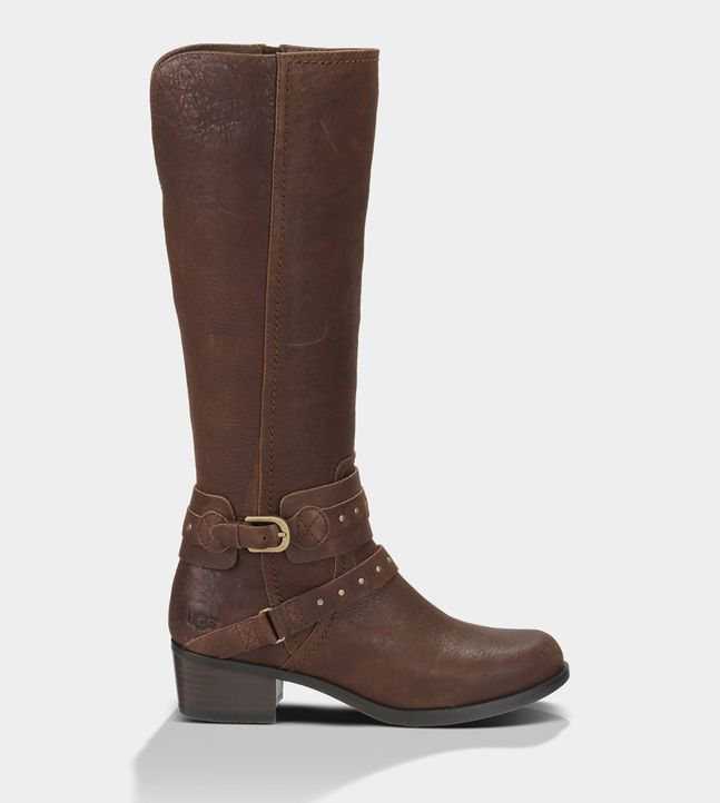 Ugg Australia Bailey Button Womens Ankle Boots Chocolate Suede
