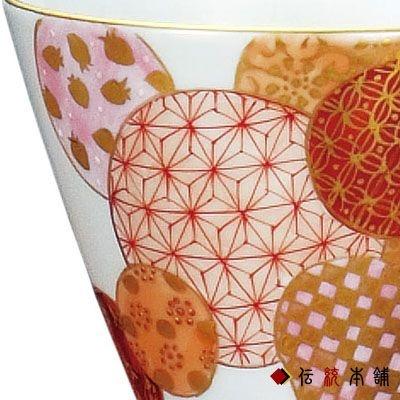 kutani-yaki cup kinran red