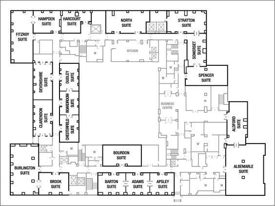 floor plans | grosvenor house, a jw marriott hotel meeting room