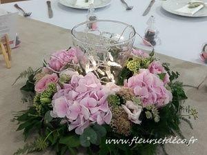 """Centre de table couronne de fleurs """"vintage"""" by Fleurs et Déco"""