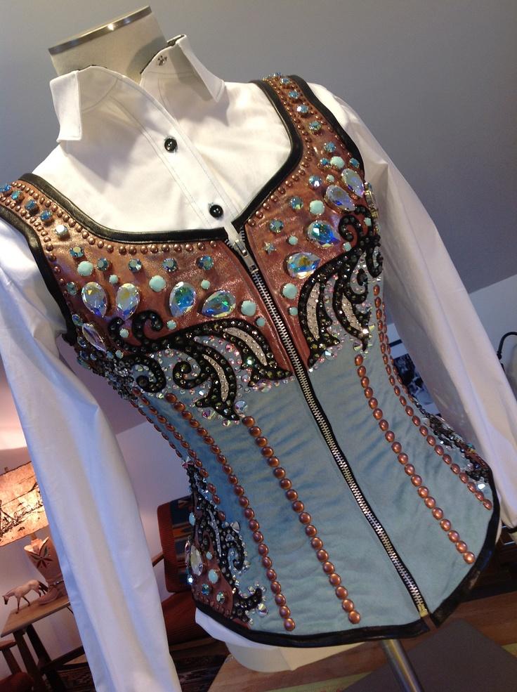 Turquoise & Copper Corset Vest | Western Pleasure ...