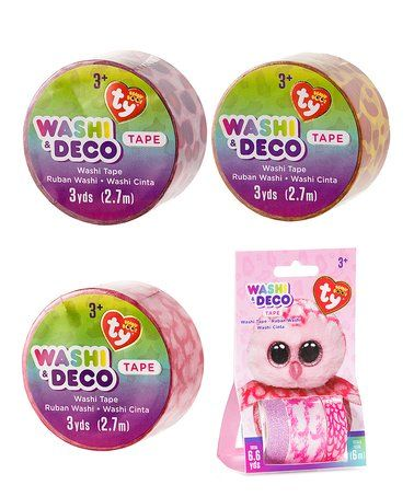 f9edf472db9 Another great find on  zulily! Beanie Boo Pinky Owl Washi tape Set   zulilyfinds