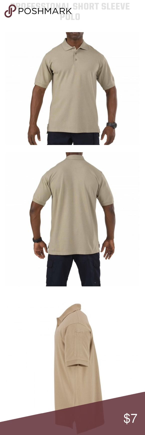 Men's 5.11 Tactical Series tan Polo-size Large Men's 5.11 Tactical Series tan short sleeve Polo-size Large. First photos Are shirt new- mine is worn but no marks & in really good condition!! 5.11 Tactical Shirts Polos