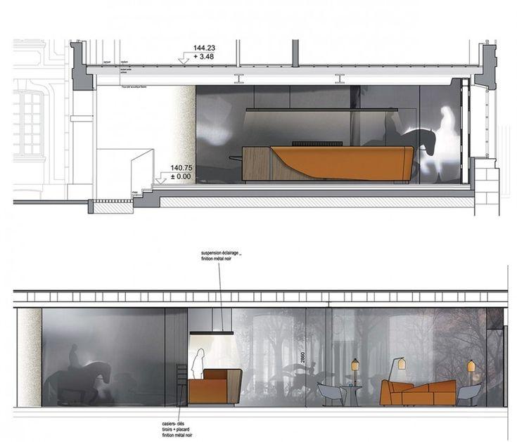 Elevation Plan Presentation : Hotel les haras jouin manku projects meta title
