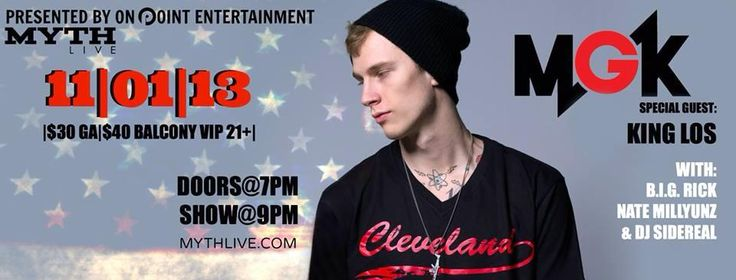 MGK & KING LOS, NOVEMBER 1ST!!! TICKETS ON DECK! SHOOT ME A MESSAGE ON FACEBOOK OR TWITTER FOR MORE INFO! (: