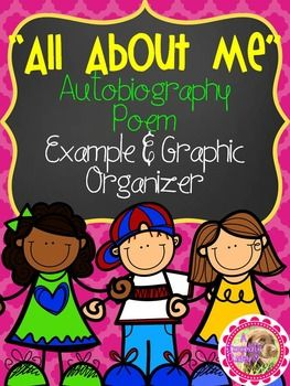 "FREE graphic organizer and example poem along with the ""All About Me"" Autobiography Poem resource! Perfect End of the Year or Back to School Writing Activity, but really can be used at any point! GRADES 3-5.!"