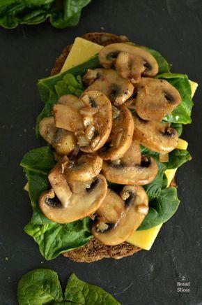 Sandwich de Espinacas y Champiñones al Brandy