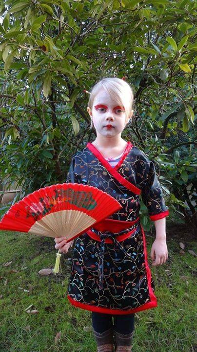 Etwas asiatisch angehaucht- ein Geisha-Kostüm #karneval