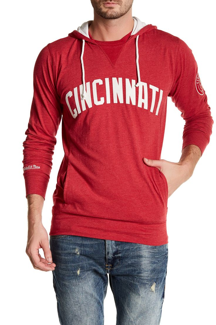 MLB Reds Away Team Hooded Sweatshirt