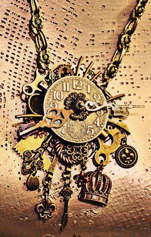 Steampunk Necklace - Angela Venable Art