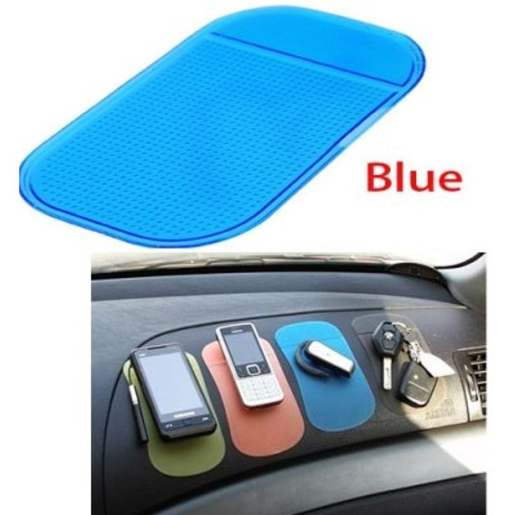 Car Gadgets Practical Anti-slip Magic Sticky Mat at Car for Phone/PDA/MP3/MP4/Digital Devices-Blue * Check this awesome product by going to the link at the image. (This is an affiliate link) #Accessories