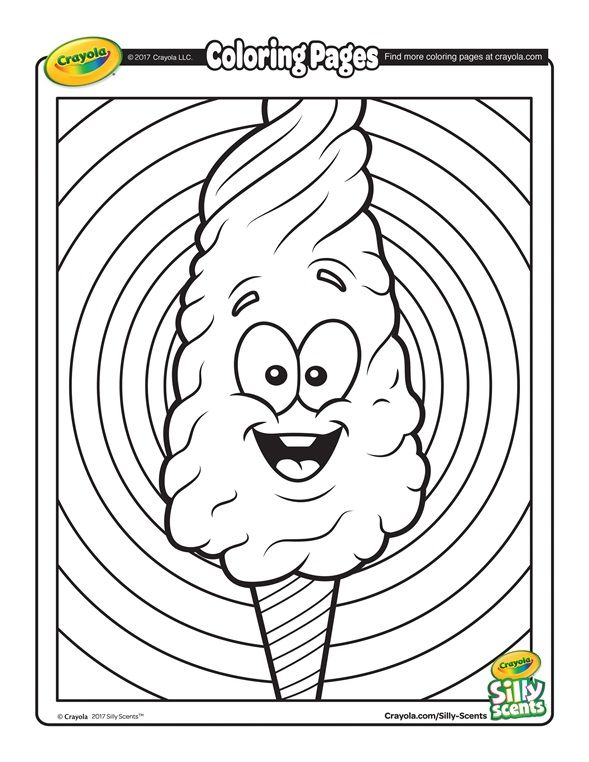 Silly Scents Cotton Candy Coloring Page