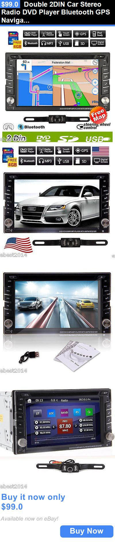 Vehicle Electronics And GPS: Double 2Din Car Stereo Radio Dvd Player Bluetooth Gps Navigation With Map+Camera BUY IT NOW ONLY: $99.0